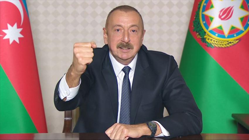 Aliyev: Ermenistan-Azerbaycan Dağlık Karabağ çatışmasına son verildi