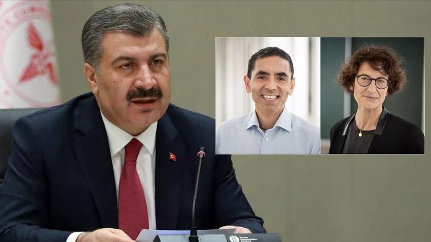 Bakan Koca, dünyanın konuştuğu Türk profesörlerle görüştü