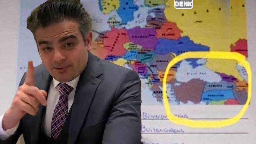 Hollanda'da skandal Türkiye haritası!