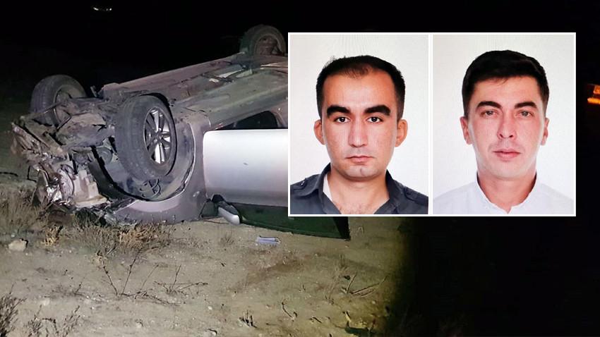 Yozgat'ta otomobil devrildi, 2 polis hayatını kaybetti