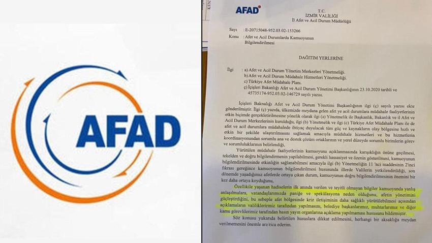 """AFAD'dan """"belediye başkanlarına basın yasağı"""" açıklaması"""