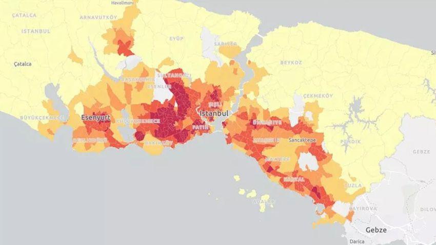 'Koronavirüs kırılganlık haritası' çıkarıldı! İşte İstanbul'un en riskli mahalleleri - Sayfa 1