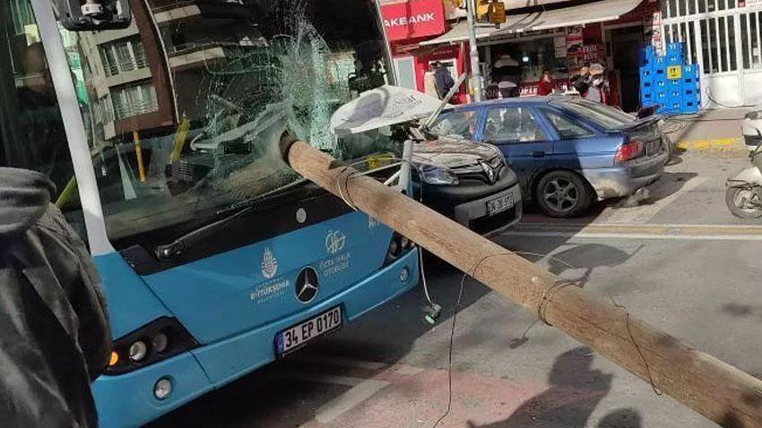 Otobüsün camından direk girdi, şoförü kıl payı ölümden döndü - Sayfa 1