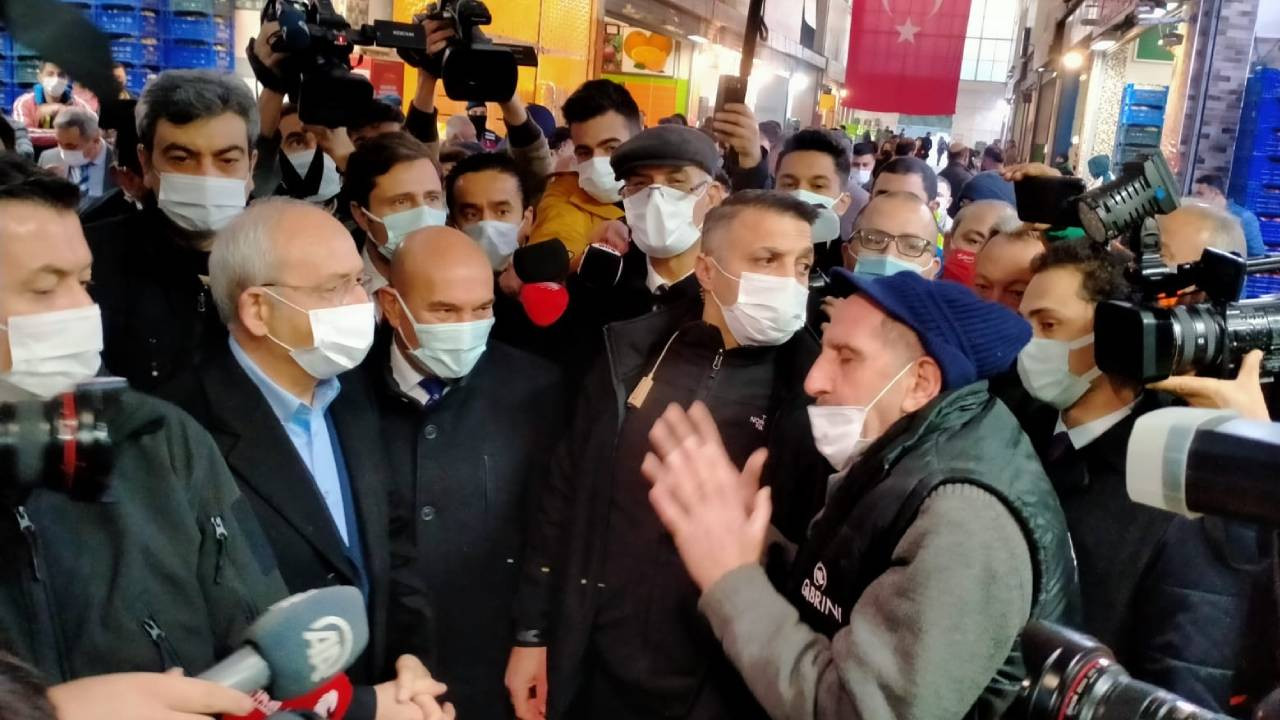 Kemal Kılıçdaroğlu'na esnaftan bozuk yol tepkisi