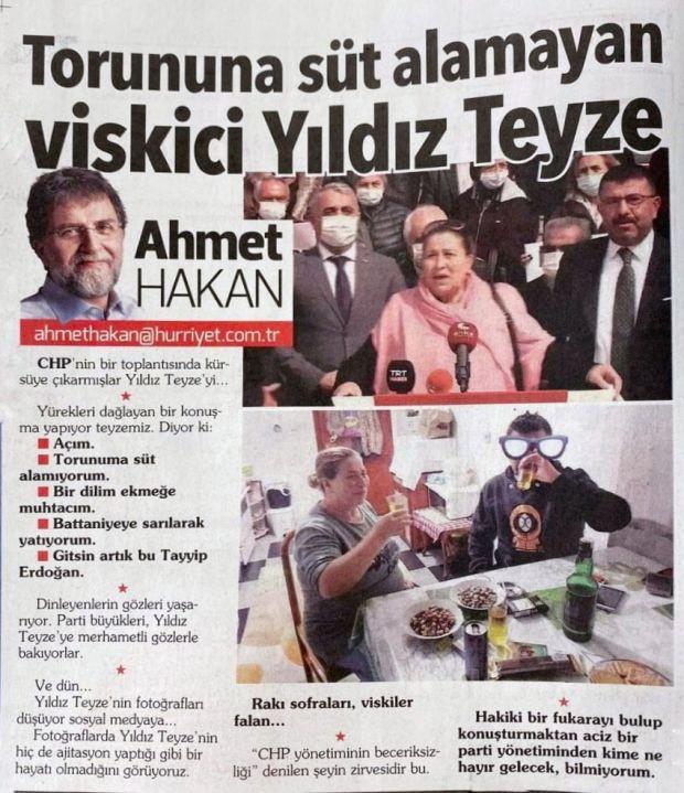 """Ahmet Hakan'dan """"Torununa süt alamayan viskici teyze"""" açıklaması - F5Haber"""