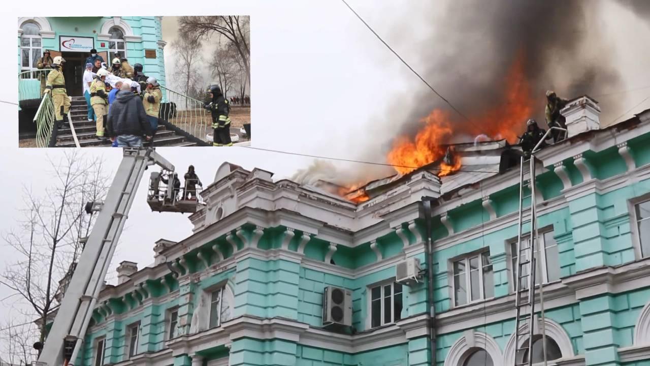 Rusya'da doktorlar yangın esnasında açık kalp ameliyatı yaptı!