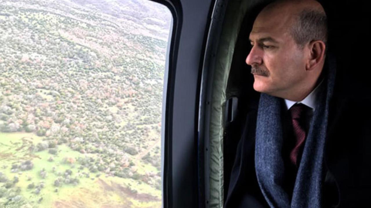 İçişleri Bakanı Soylu'nun helikopteri acil iniş yaptı!