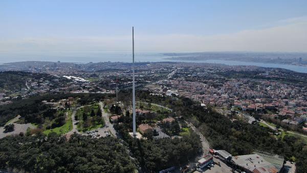 Türkiye'nin en uzun bayrak direği Çamlıca Tepesi'nde - Sayfa 2
