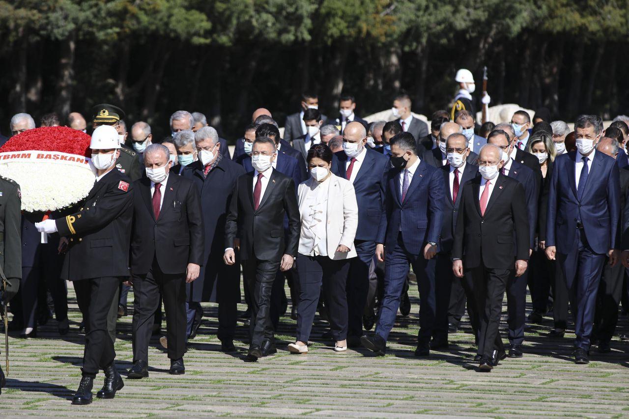 TBMM Başkanı Mustafa Şentop başkanlığındaki devlet erkanı Anıtkabir'i ziyaret etti - Sayfa 2
