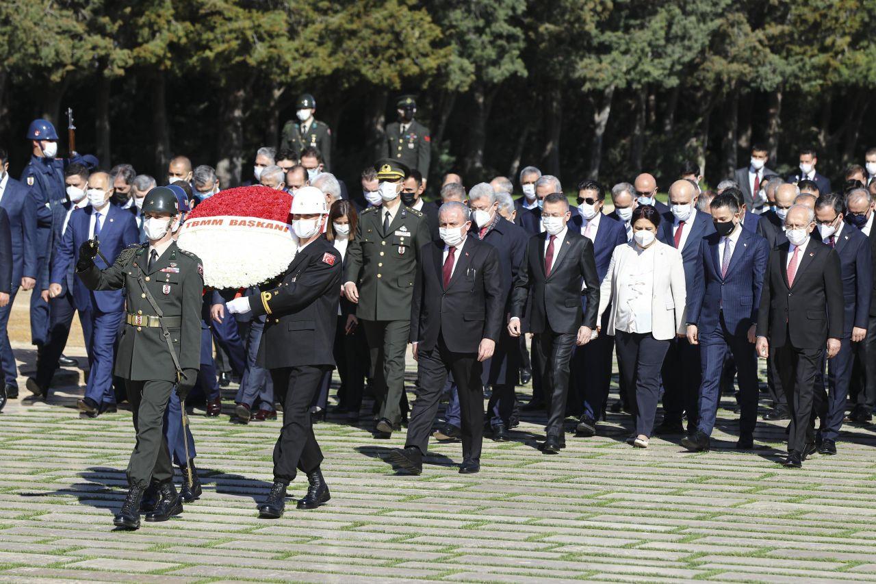 TBMM Başkanı Mustafa Şentop başkanlığındaki devlet erkanı Anıtkabir'i ziyaret etti - Sayfa 1