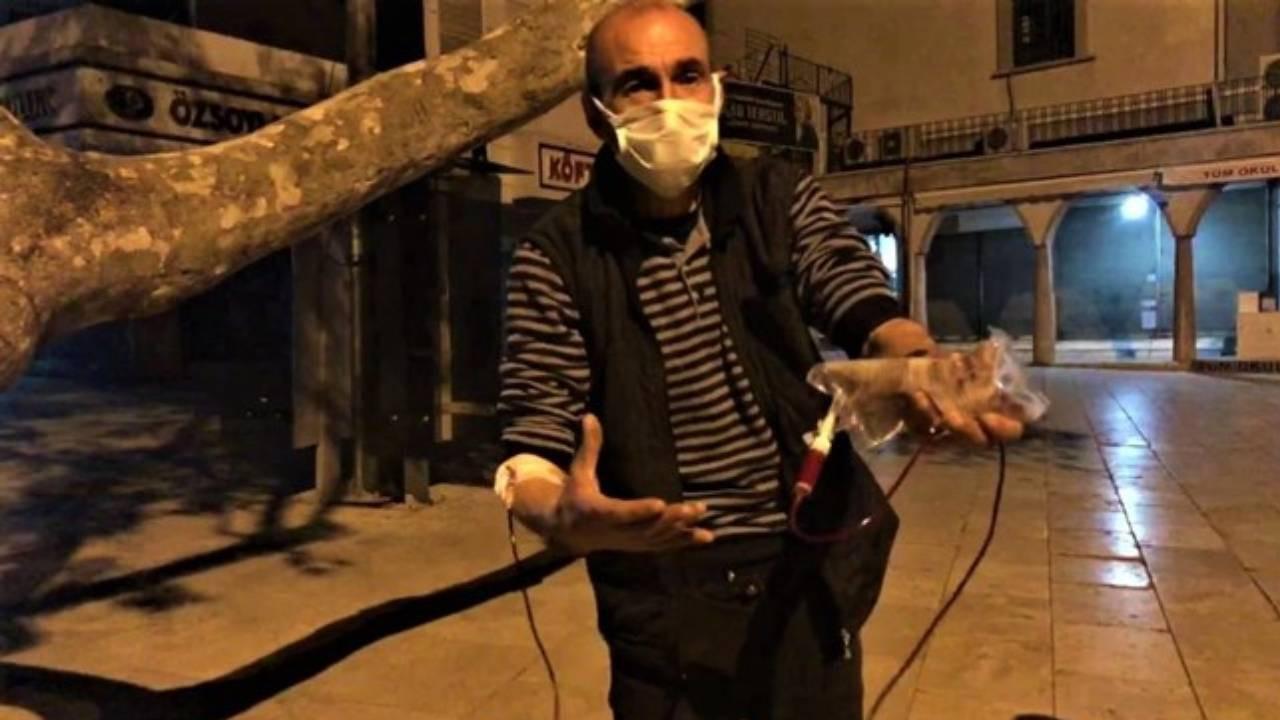 Denizli'de firari hasta serumuyla yakalandı