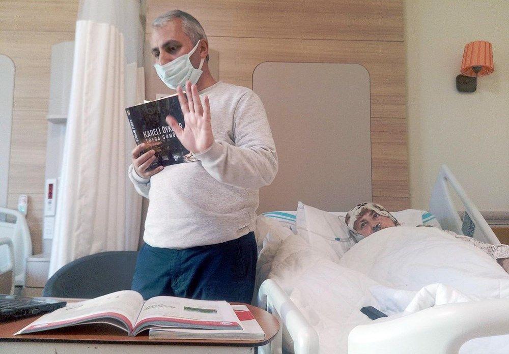 Erzurum'daki öğretmen hastane odasını sınıfa çevirdi - Sayfa 1