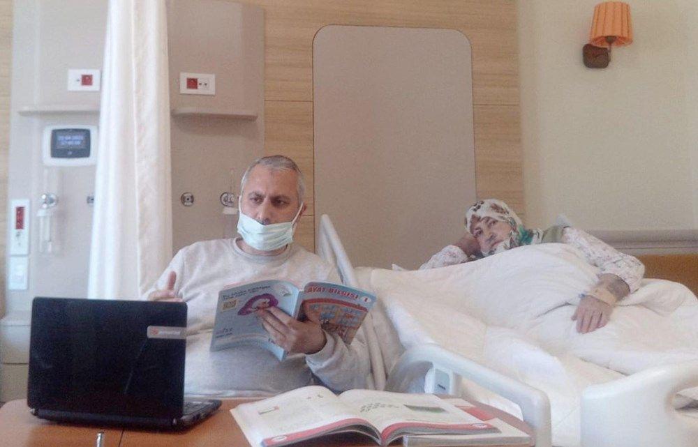 Erzurum'daki öğretmen hastane odasını sınıfa çevirdi - Sayfa 2