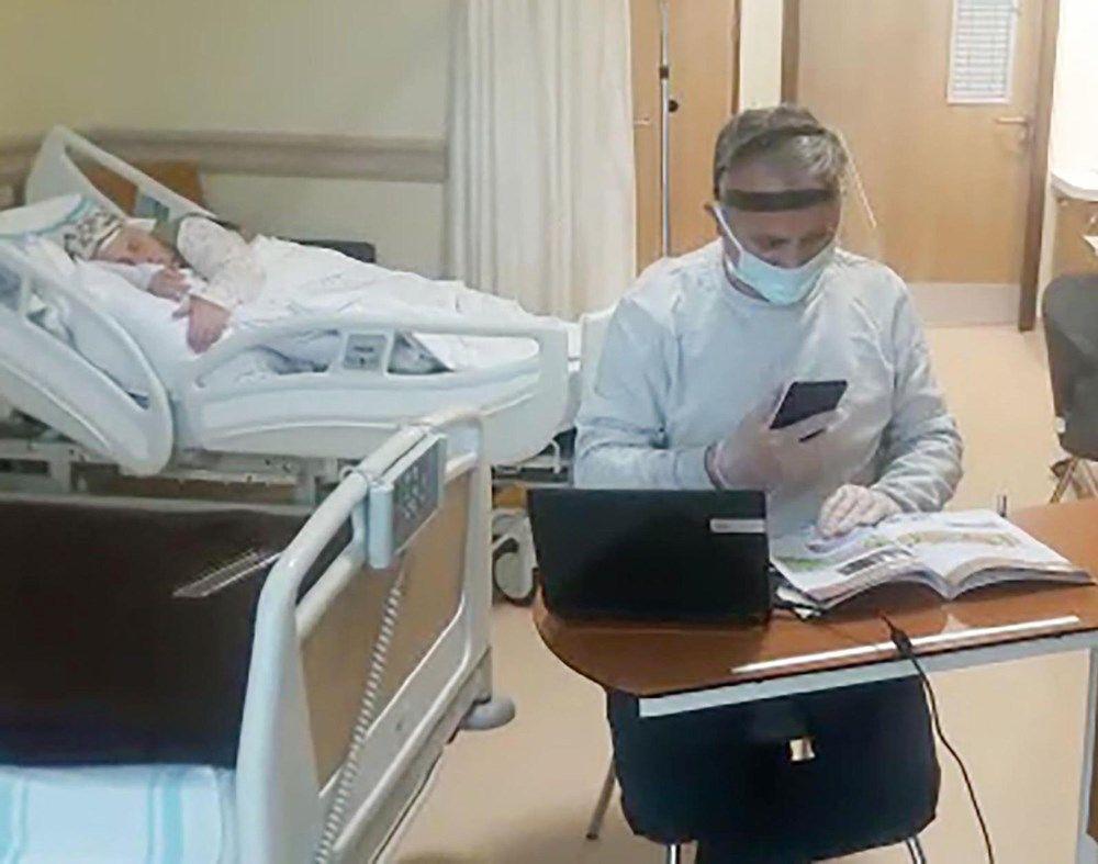 Erzurum'daki öğretmen hastane odasını sınıfa çevirdi - Sayfa 4
