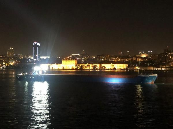 Yük gemisi İstanbul Boğazı'nda makine arızası yaptı - Sayfa 1