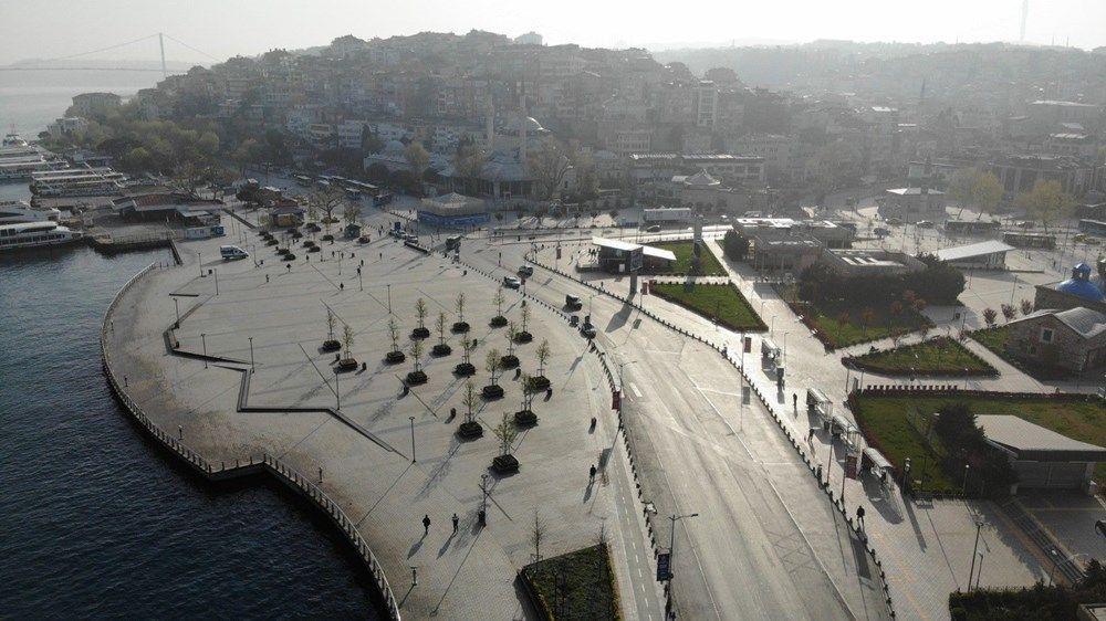 Tam kapanma sonrası Kadıköy ve Üsküdar'da meydanlar sessizliğe büründü - Sayfa 1