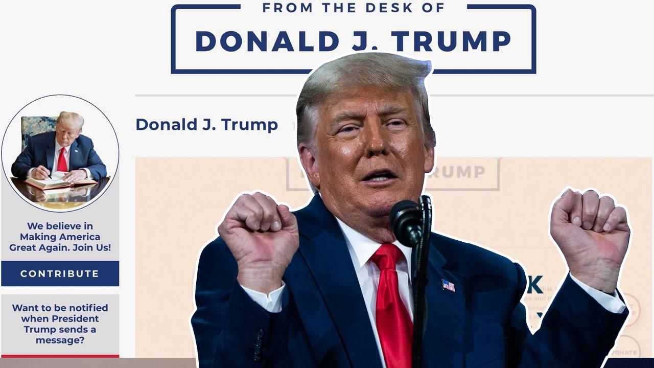 Sosyal medyadan kovulan Trump internete blog açarak döndü
