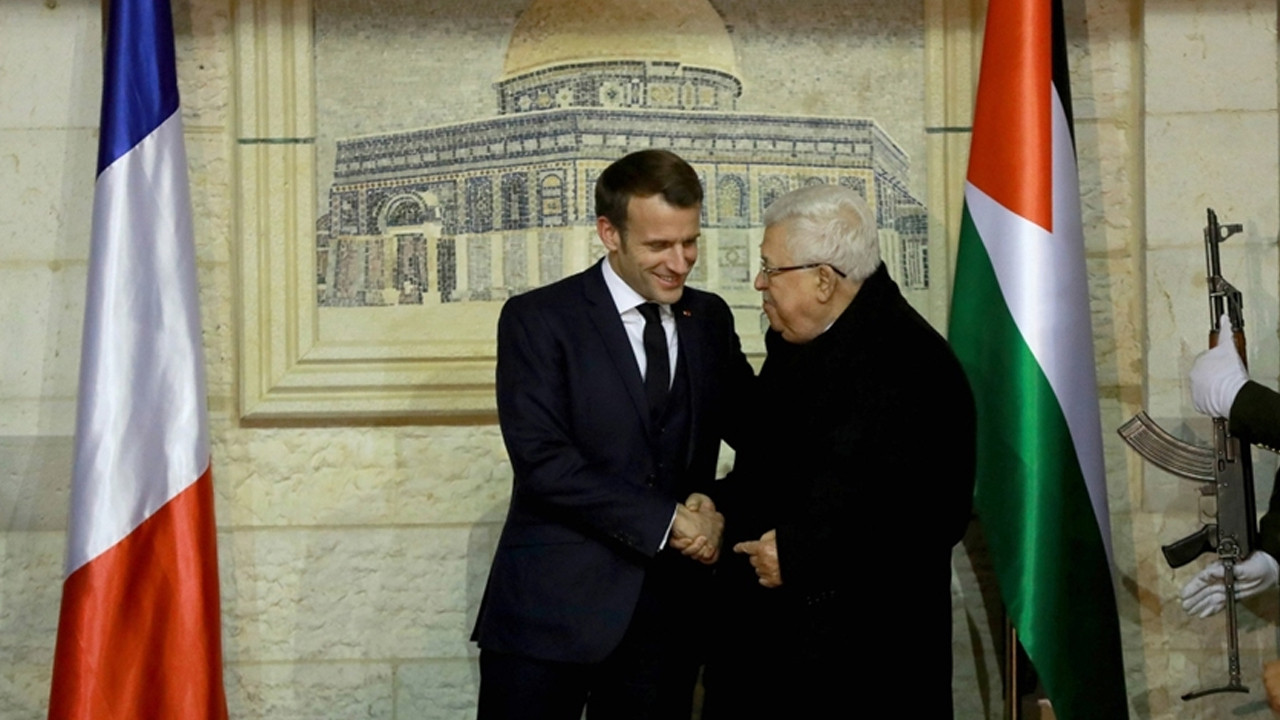 Fransa Cumhurbaşkanı Macron, Filistin Devlet Başkanı Abbas ile görüştü