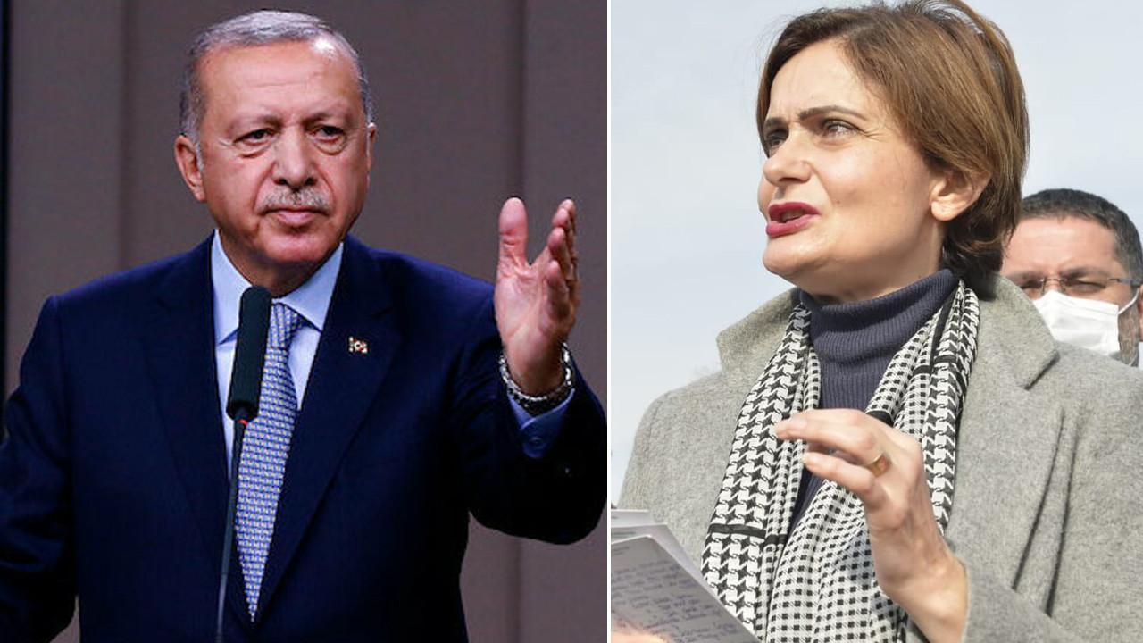 Erdoğan'dan, Canan Kaftancıoğlu'na 500 bin liralık tazminat davası