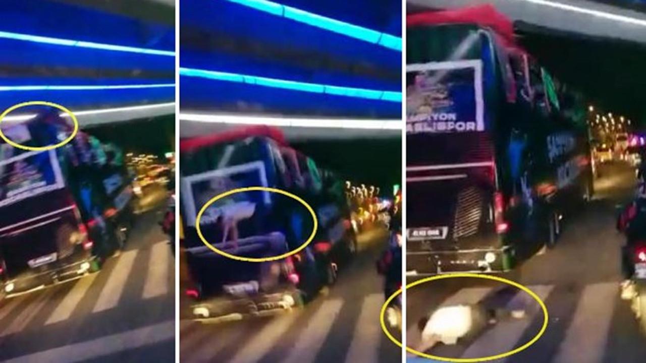 Kocaelisporlu futbolcu Bahri Can Avcı takım otobüsünden düştü