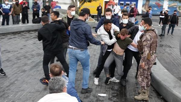 Taksim Meydanı'nda kemerli kavga; Özel harekat devreye girdi: 6 gözaltı - Sayfa 4