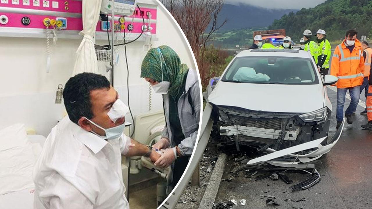 MHP milletvekilleri Hasan Kalyoncu ile Yaşar Karadağ trafik kazası geçirdi