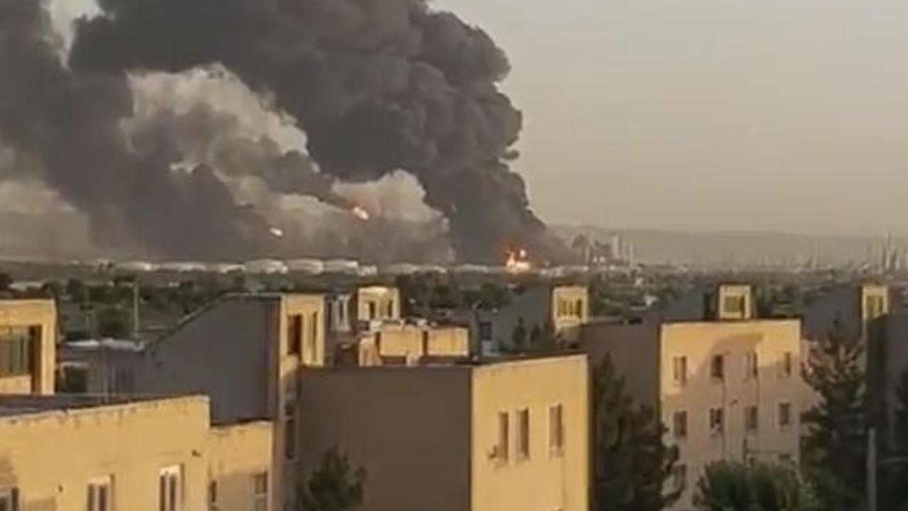 Tahran'da petrol rafinerinde büyük yangın!