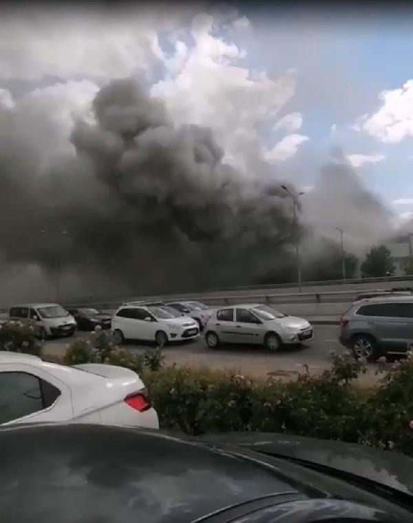 Ankara'da iş merkezinde yangın - Sayfa 1