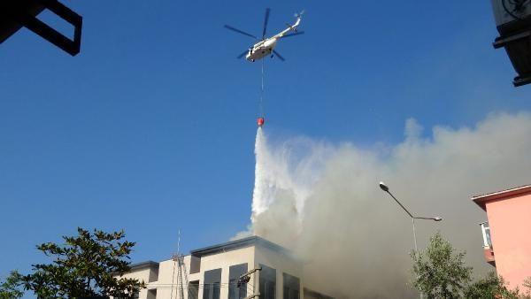 Çanakkale'de yeni emniyet binası inşaatının çatısında yangın - Sayfa 1