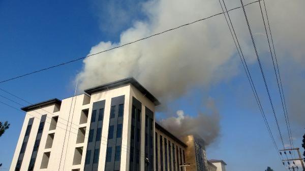 Çanakkale'de yeni emniyet binası inşaatının çatısında yangın - Sayfa 4