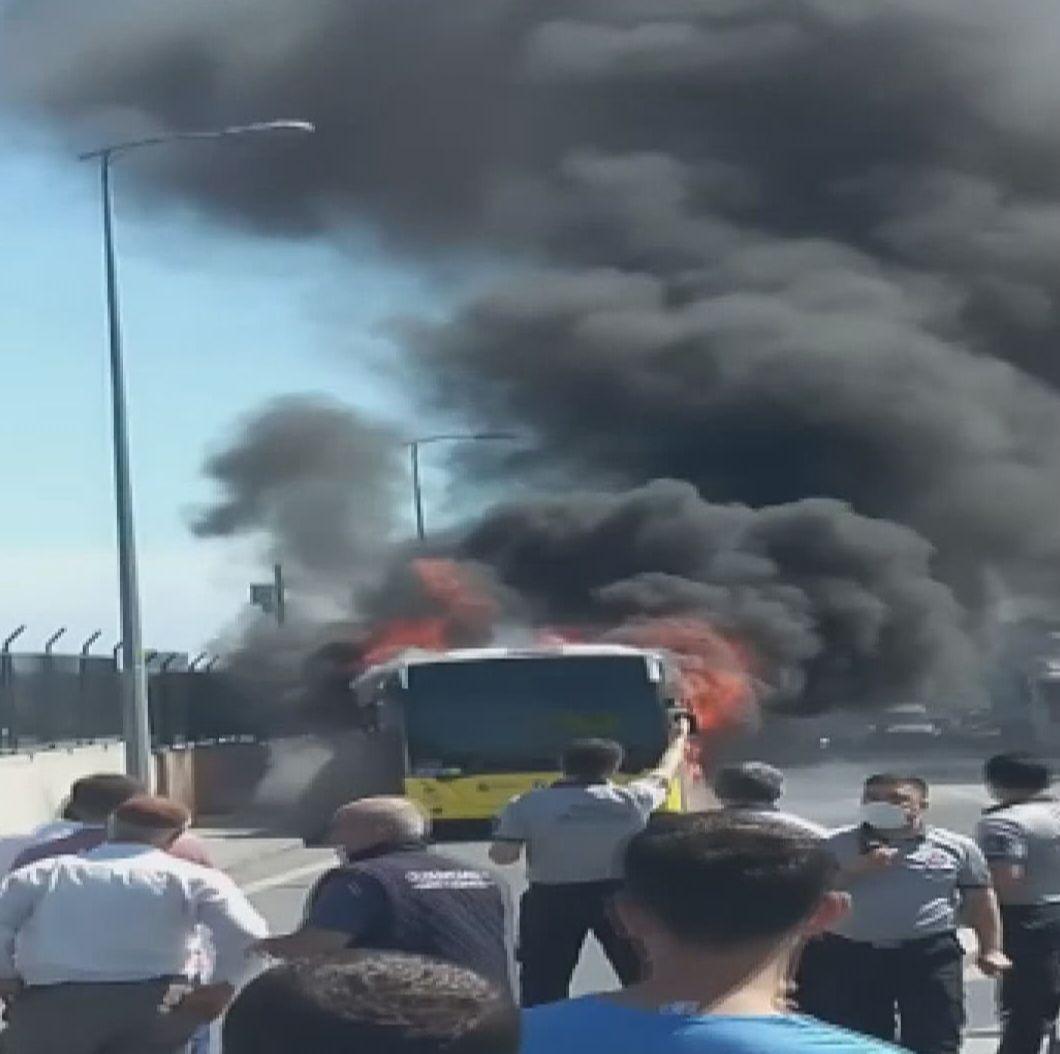 Bayrampaşa'da İETT otobüsü alev alev yandı! - Sayfa 2