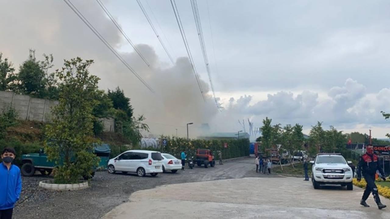 İstanbul'da plastik fabrikasında yangın