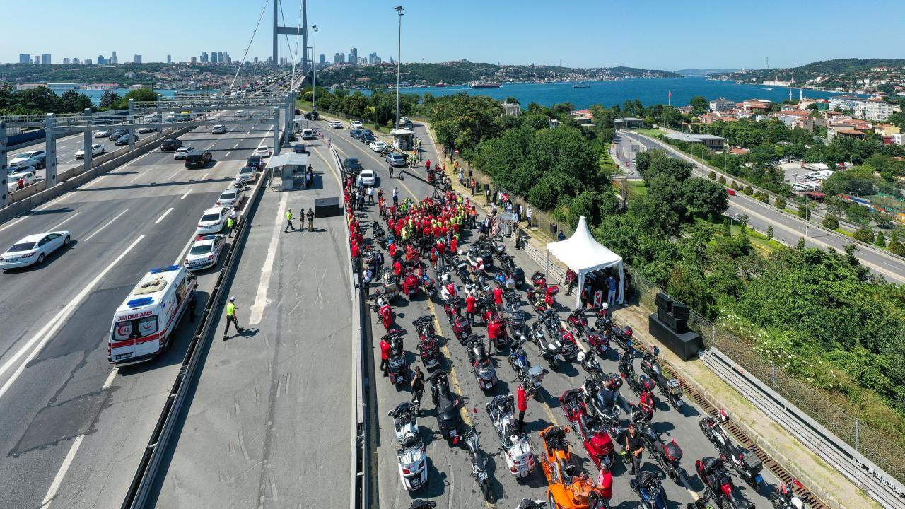 İstanbul'da motosikletçiler 15 Temmuz şehitleri için konvoy oluşturdu - Sayfa 3