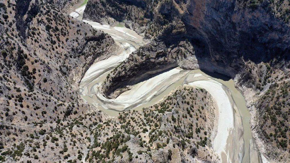 Arapapıştı Kanyonu'ndaki sular çekildi - Sayfa 1