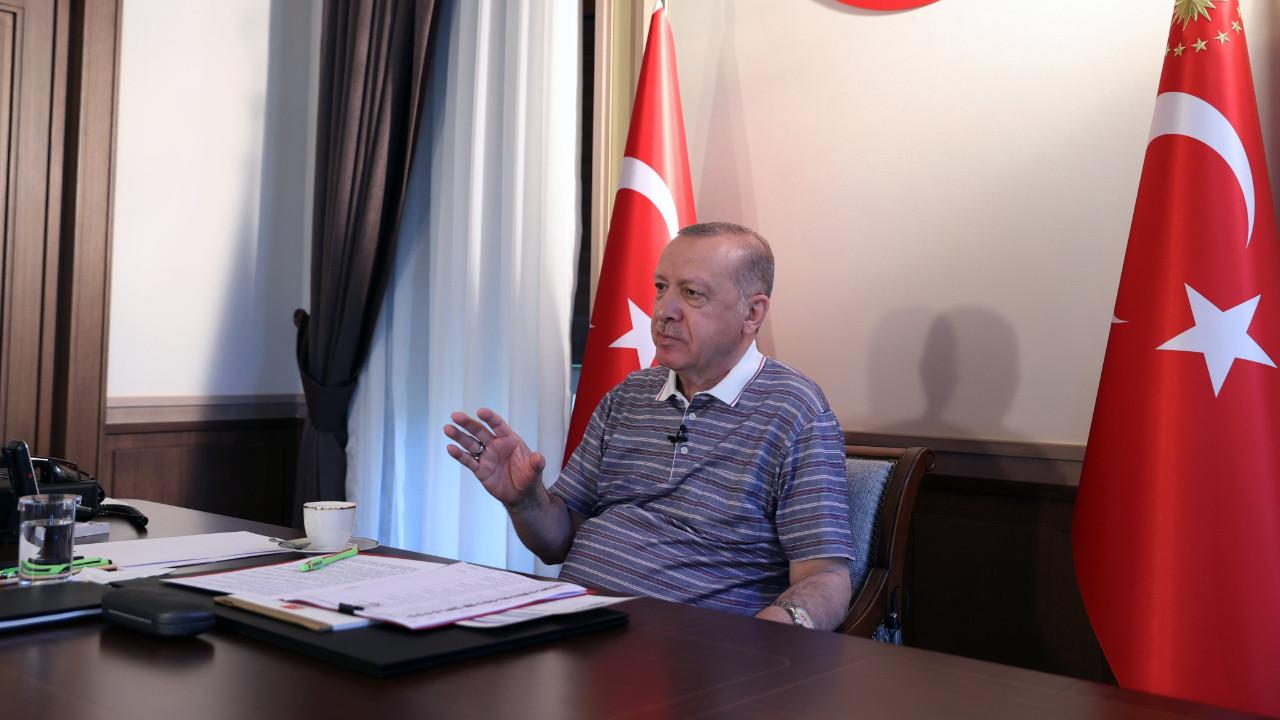 Erdoğan: Salgın çeşitli ülkelerde yeni varyantlarla yükselişe geçse de Türkiye henüz bu tehdidin pençesine düşmüş değil