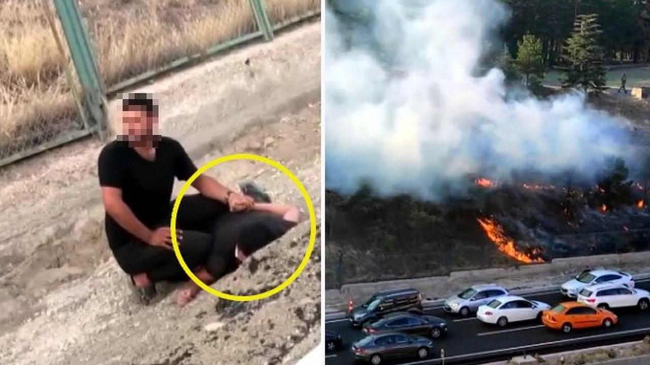Ankara'da askeriyedeki ormanlık alanı ateşe verdi, suçüstü yakalandı