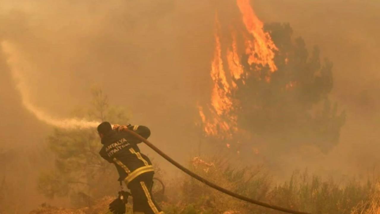 Balayını iptal edip yangınla mücadeleye koştu!
