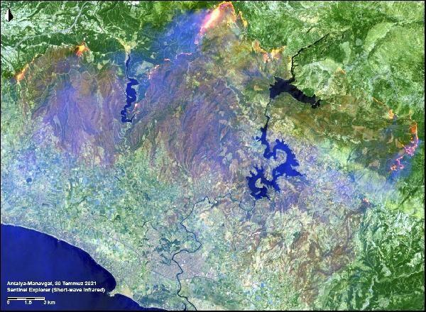 Manavgat, Marmaris ve Milas yangınlarının uydu görüntüsü - Sayfa 2