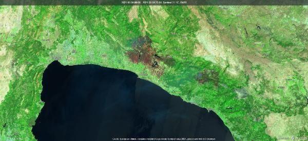 Manavgat, Marmaris ve Milas yangınlarının uydu görüntüsü - Sayfa 3