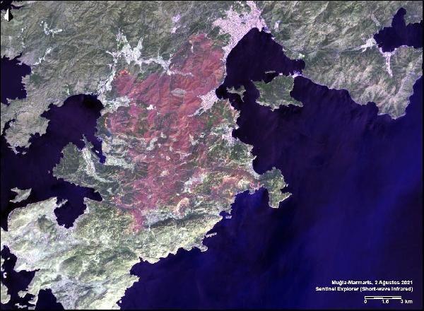 Manavgat, Marmaris ve Milas yangınlarının uydu görüntüsü - Sayfa 4