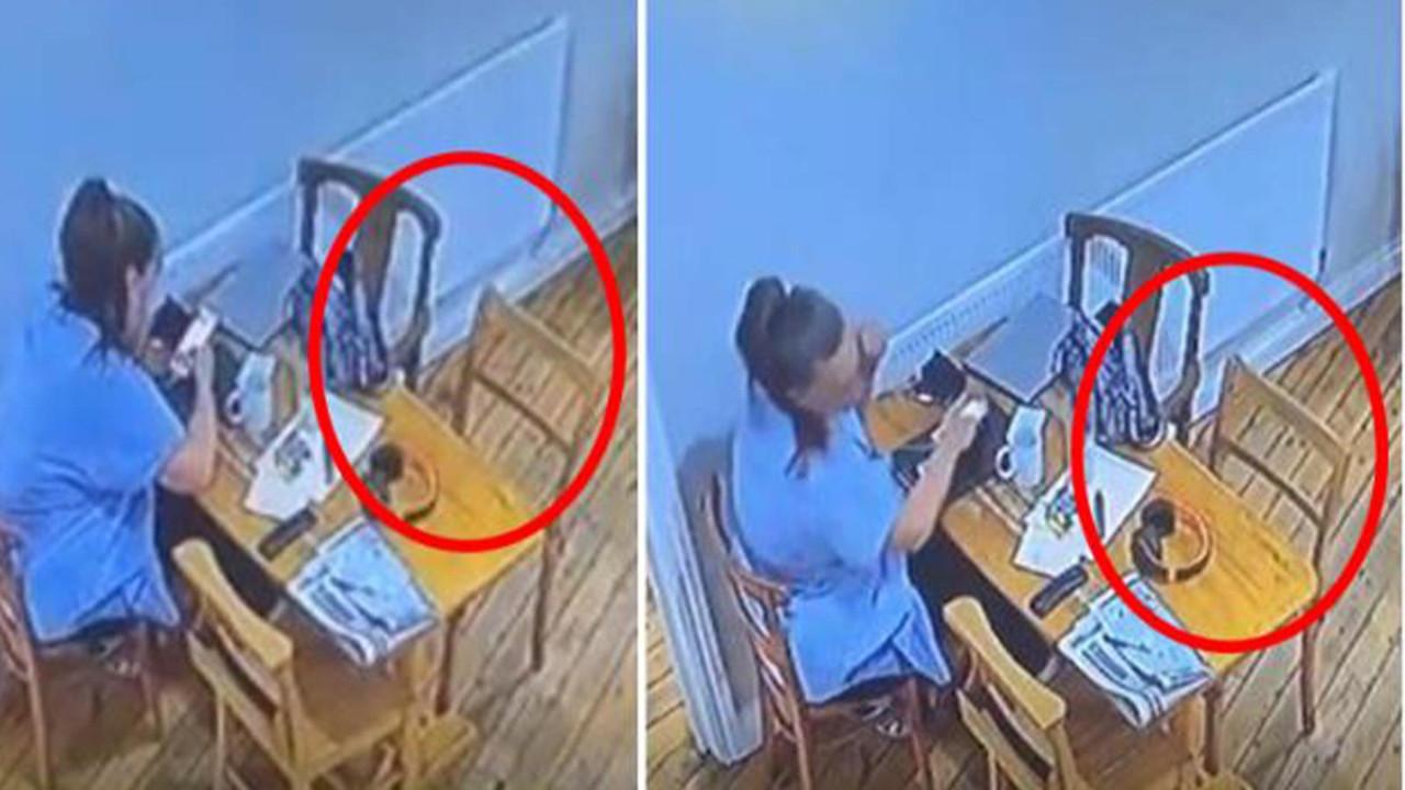 Sandalye kendi kendine hareket etti kız şok oldu!