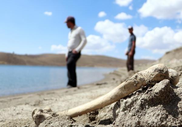 Palandöken Barajı'nın suları çekildi; mezarlar gün yüzüne çıktı - Sayfa 1