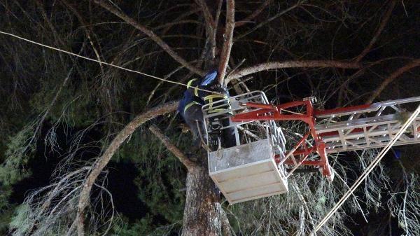 Türbülansa kapılıp, ağaca iniş yapan yamaç paraşütçüsünü itfaiye kurtardı - Sayfa 3