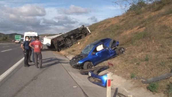 Kuzey Marmara Otoyolu'nda feci kaza; TIR otomobili ezdi - Sayfa 4