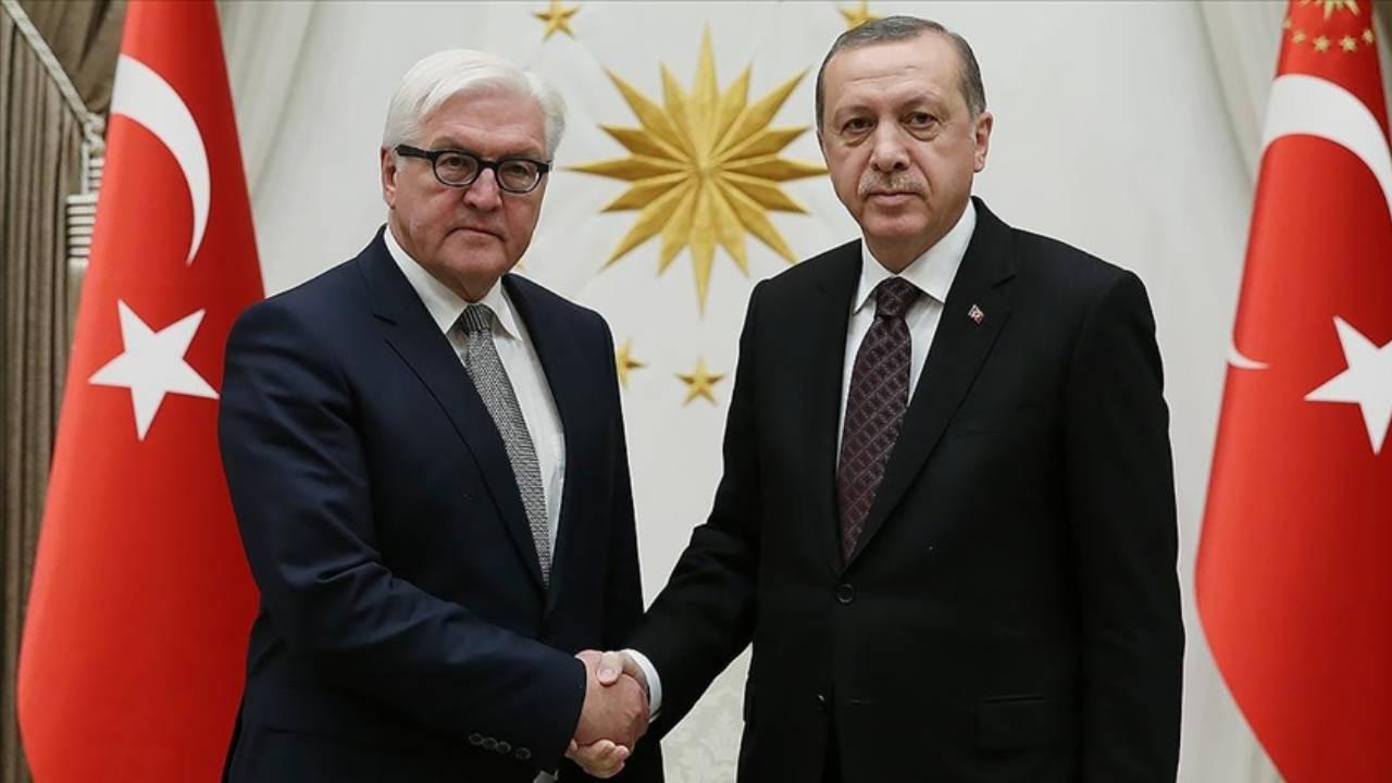 Cumhurbaşkanı Erdoğan Almanya Cumhurbaşkanı ile görüştü!