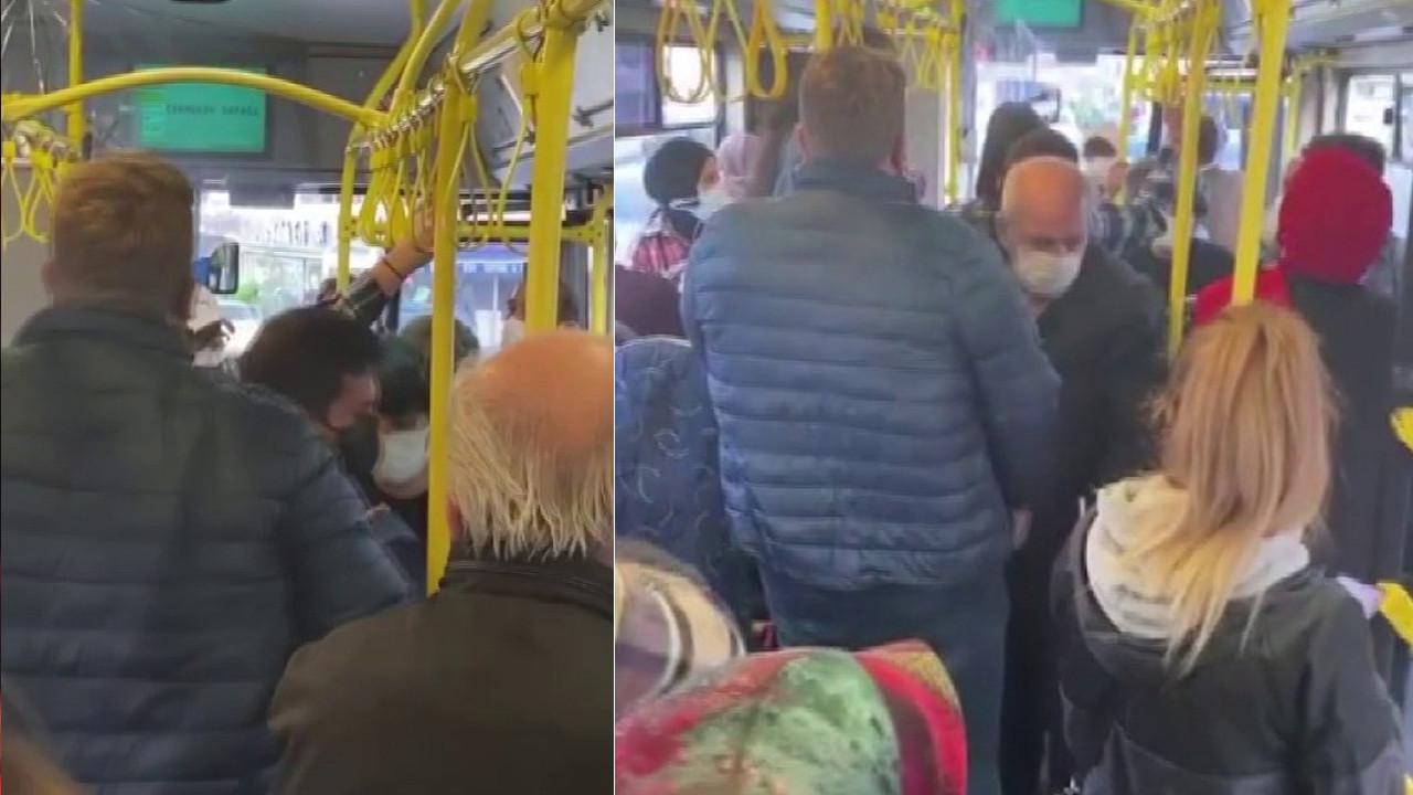 Ümraniye'de İETT şoförü psikolojim bozuldu dedi, yolcuları indirmek istedi