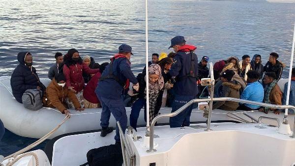 İzmir açıklarında 67 kaçak göçmen kurtarıldı - Sayfa 1