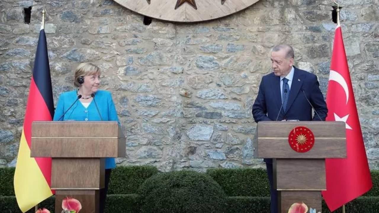 Almanya Başbakanı Merkel ve Cumhurbaşkanı Erdoğan 'dan ortak açıklama