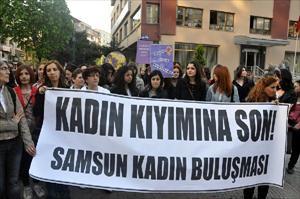 Bıçaklanan Kadın İçin Eylem Yaptılar