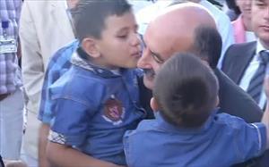 Bakanlar Filistinli yaralıları ziyaret etti